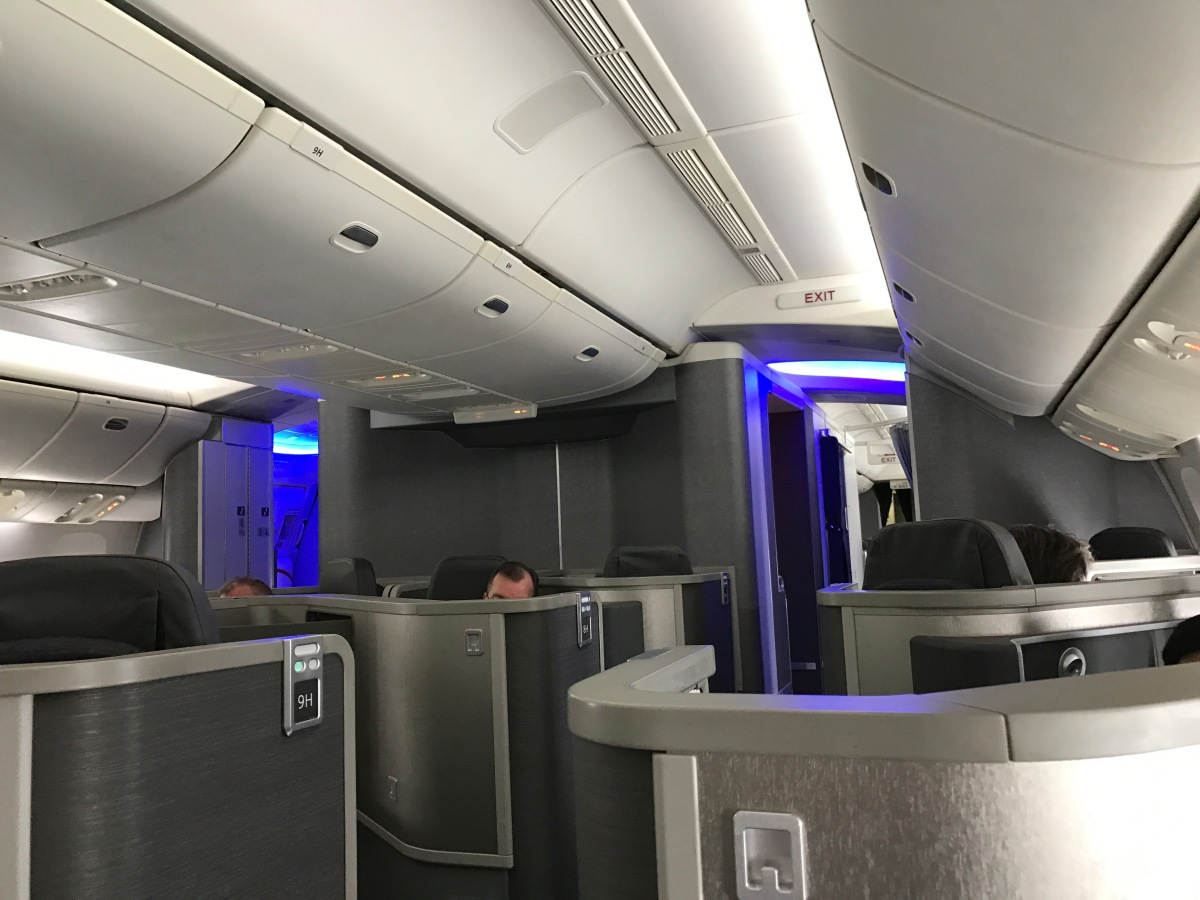 American Airlines Business Class Forward Facing Boeing